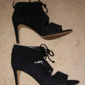 Franco Sarto Peep Toe lace up heels